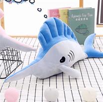 Мягкая игрушка синяя рыба-меч 65 см купить в Москве