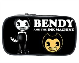 Пенал с Бенди и логотипом Bendy and the Ink Machine купить в Москве