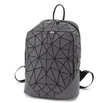 Геометрический рюкзак темно серого цвета купить