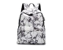 Белый мраморный рюкзак купить в Москве