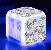 Купить часы будильник с единорогами в Москве