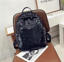 Рюкзак с пайетками (черно - белый) купить в Москве