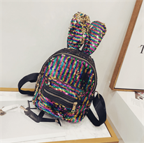 Рюкзак с пайетками (разноцветный с ушками) купить в Москве