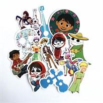Набор наклеек с персонажами мультфильма Тайна Коко купить Москва
