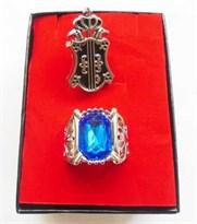 Брошь и Кольцо с синим камнем из аниме Темный дворецкий купить Москва
