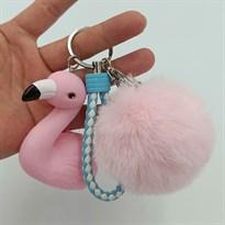 Брелок Розовый Фламинго с бубоном купить Москва