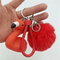 Брелок Красный Фламинго с бубоном купить Москва