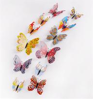 Интерьерные наклейки 3D бабочки купить в Москве