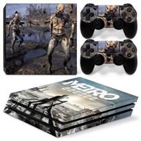 Защитная пленка для PS4 Pro Зомби из игры Метро: Исход (Metro Exodus) купить Москва