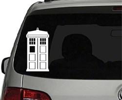 Купить Наклейка на машину Тардис из сериала Доктор Кто (TARDIS Doctor Who) в Москве