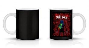 Кружка черная Салли Фейс с гитарой (Sally Face) купить Москва