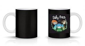 Кружка черная с персонажами игры Салли Фейс (Sally Face) купить Москва
