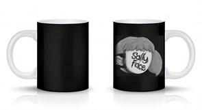 Кружка черная Салли Фейс в маске (Sally Face) купить Москва