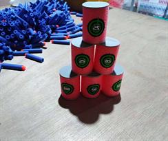 Мишени в форме цилиндров для бластеров Нерф (Nerf) купить в Москве