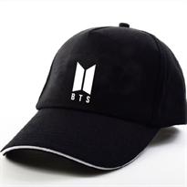 Черная кепка лого группы BTS (Bangtan Boys) купить в Москве