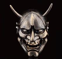 Бронзовая маска Ханья для Хэллоуина купить в Москве