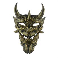 Бронзовая маска японского Демона Ханья купить в Москве