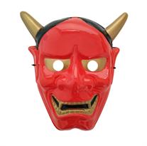 Пластиковая маска демона Хання красного цвета купить в Москве