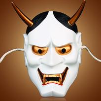 Купить белую маску Хання большого размера