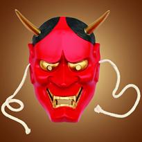 Купить красную маску Хання большого размера в Москве
