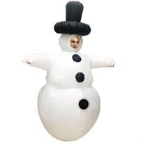 Костюм взрослый надувной Снеговик купить Москва