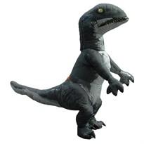 Черный надувной костюм Динозавра купить Москва