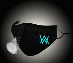 Тканевая маска с голубым логотипом Алана Уокера купить в Москве
