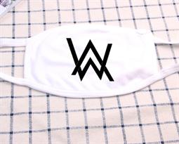 Белая тканевая маска логотипом Алана Уокера купить в Москве