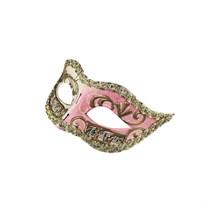 Венецианская маска (Цвет Белый/Розовый) купить Москва