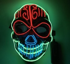 Светодиодная Led маска Череп для Хэллоуина купить в Москве