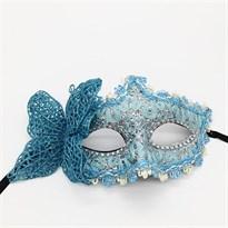 Венецианская маска с бабочкой (Цвет Голубой) купить Москва