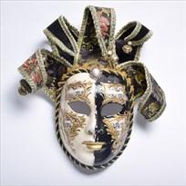 Венецианская маска с колокольчиками (Цвет Черный) купить Москва