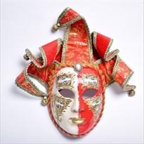 Венецианская маска с колокольчиками (Цвет Красный) купить Москва