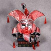 Венецианская маска с кисточками (Цвет Красный) купить Москва