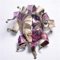 Венецианская маска с колокольчиками (Цвет Фиолетовый) купить Москва