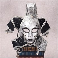 Венецианская маска с колокольчиками (Цвет Серебро) купить Москва