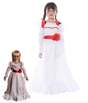 Белое платье куклы из фильма Проклятье Аннабель (Annabelle) детское купить в Москве
