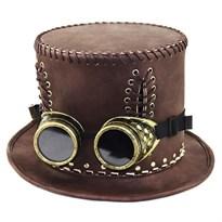 Шляпа с очками в стиле Стимпанк (Цвет Коричневый) купить Москва
