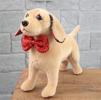 Мягкая игрушка щенок Золотистый ретривер 30 см купить в Москве