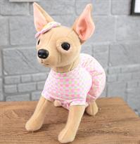 Мягкая игрушка Чихуахуа в платье 30 см купить в Москве
