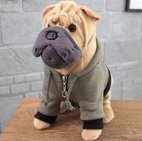 Мягкая игрушка собака Шарпей 30 см купить