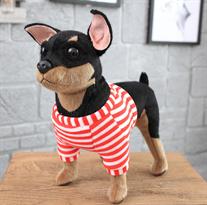Мягкая игрушка собака Тойтерьер 30 см купить в Москве