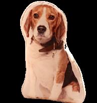 Подушка с собакой породы Бигль купить в Москве