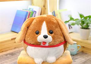 Круглая игрушка-подушка собака Бигль купить в Москве