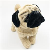 Мягкая игрушка собака Мопс 30 см купить в Москве