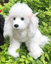 Мягкая игрушка собака Белый Пудель 32 см купить в Москве