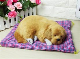 Игрушка спящий щенок Золотистый ретривер купить в Москве