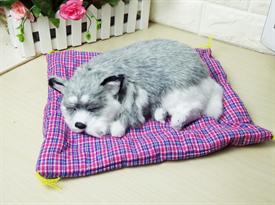 Игрушка спящий щенок Хаски купить в Москве