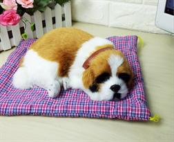 Игрушка спящий щенок Сенбернара купить в Москве