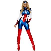 Женский костюм Капитана Америки (Captain America) купить Москва